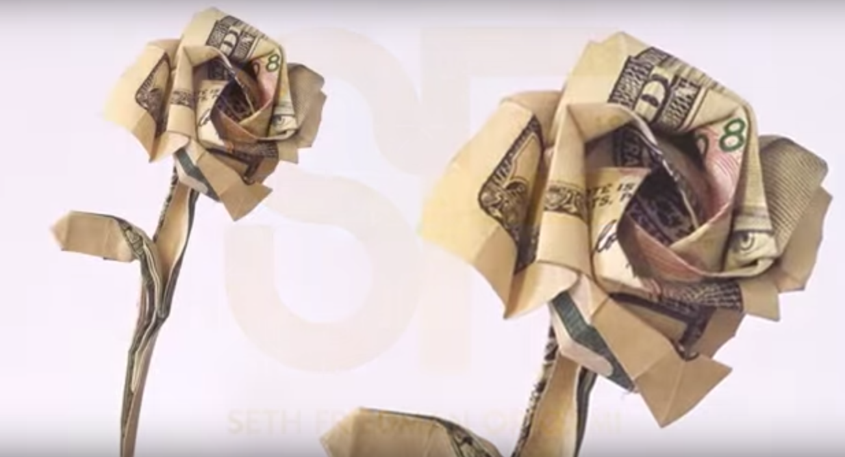 Money Origami, Flower Edition: 10 Different Ways to Fold a Dollar ...   668x1234